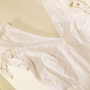 Express white jumpsuit romper Size 8